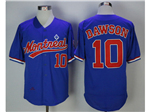 Montreal Expos #10 Andre Dawson Blue Cooperstown Collection Mesh Batting Practice Jersey