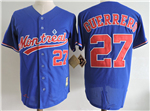 Montreal Expos #27 Vladimir Guerrero Blue Cooperstown Collection Mesh Batting Practice Jersey