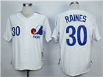 Montreal Expos #30 Tim Raines White Throwback Jersey