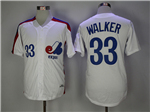 Montreal Expos #33 Larry Walker White Throwback Jersey