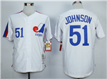 Montreal Expos #51 Randy Johnson White Throwback Jersey
