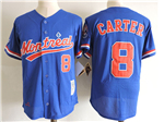 Montreal Expos #8 Gary Carter Blue Cooperstown Collection Mesh Batting Practice Jersey