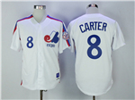Montreal Expos #8 Gary Carter White Throwback Jersey