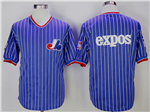 Montreal Expos Blue Pinstripe Throwback Team Jersey