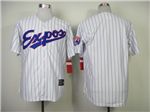 Montreal Expos White Pinstripe Throwback Team Jersey