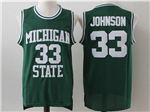 Michigan State Spartans #33 Magic Johnson Green College Basketball Jersey