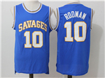 Southeastern Oklahoma State Savage Storm #10 Dennis Rodman Blue College Basketball Jersey