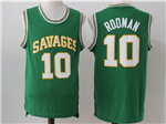 Southeastern Oklahoma State Savage Storm #10 Dennis Rodman Green College Basketball Jersey