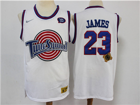 Space Jam: A New Legacy Tune Squad #23 LeBron James White Movie Basketball Jersey