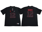 Alabama Crimson Tide #12 Joe Namath Black College Football Jersey