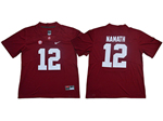 Alabama Crimson Tide #12 Joe Namath Red College Football Jersey