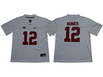 Alabama Crimson Tide #12 Joe Namath White College Football Jersey