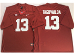 Alabama Crimson Tide #13 Tua Tagovailoa Red College Football Jersey