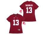 Alabama Crimson Tide #13 Tua Tagovailoa Women's Red College Football Jersey