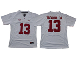 Alabama Crimson Tide #13 Tua Tagovailoa Women's White College Football Jersey