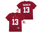 Alabama Crimson Tide #13 Tua Tagovailoa Youth Red College Football Jersey