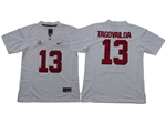 Alabama Crimson Tide #13 Tua Tagovailoa Youth White College Football Jersey