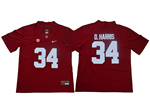 Alabama Crimson Tide #34 Damien Harris Red College Football Jersey
