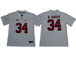 Alabama Crimson Tide #34 Damien Harris White College Football Jersey