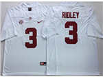 Alabama Crimson Tide #3 Calvin Ridley White College Football Jersey
