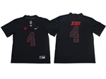 Alabama Crimson Tide #4 Jerry Jeudy Black College Football Jersey