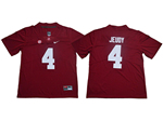 Alabama Crimson Tide #4 Jerry Jeudy Red College Football Jersey