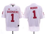 Oklahoma Sooners #1 Kyler Murray White College Football Jersey