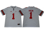 Ohio State Buckeyes #1 Justin Fields White College Football Jersey