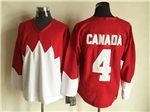 1972 Summit Series Team Canada #4 Bobby Orr CCM Vintage Red Hockey Jersey