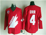 1991 Canada Cup Team Canada #4 Bobby Orr CCM Vintage Red Hockey Jersey