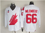 1991 Canada Cup Team Canada #66 Mario Lemieux CCM Vintage White Hockey Jersey