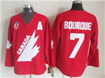 1991 Canada Cup Team Canada #7 Ray Bourque CCM Vintage Red Hockey Jersey