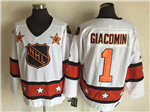 NHL 1973 All Star Game #1 Eddie Giacomin CCM Vintage Jersey