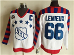 NHL 1992 All Star Game Wales #66 Mario Lemieux CCM Vintage Jersey