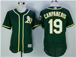 Oakland Athletics #19 Bert Campaneris Green Flex Base Jersey