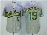 Oakland Athletics #19 Bert Campaneris Gray Flex Base Jersey