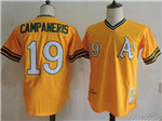 Oakland Athletics #19 Bert Campaneris 1972 Throwback Gold Jersey