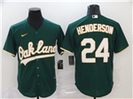 Oakland Athletics #24 Rickey Henderson Green 2020 Cool Base Jersey