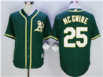 Oakland Athletics #25 Mark McGwire Green Cool Base Jersey