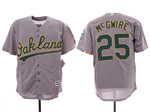 Oakland Athletics #25 Mark McGwire Gray Cool Base Jersey