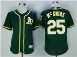 Oakland Athletics #25 Mark McGwire Green Flex Base Jersey