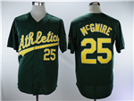 Oakland Athletics #25 Mark McGwire Green Throwback Jersey