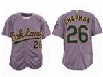 Oakland Athletics #26 Matt Chapman Gray Flex Base Jersey