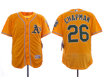 Oakland Athletics #26 Matt Chapman Gold Flex Base Jersey