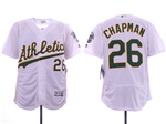 Oakland Athletics #26 Matt Chapman White Flex Base Jersey
