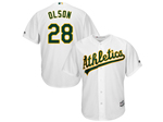 Oakland Athletics #28 Matt Olson White Cool Base Jersey