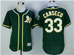 Oakland Athletics #33 Jose Canseco Green Flex Base Jersey