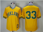Oakland Athletics #33 Jose Canseco Gold Turn Back The Clock Copperstown Collection Jersey