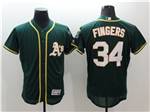 Oakland Athletics #34 Rollie Fingers Green Flex Base Jersey