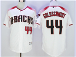 Arizona Diamondbacks #44 Paul Goldschmidt White/Brick Flex Base Jersey